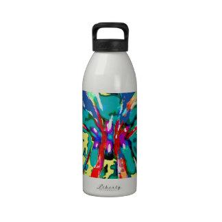 TROPICAL Beauty Landscape - Flowering Hearts FUN Water Bottle