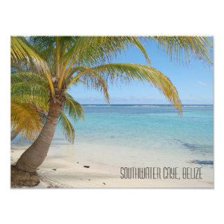 Tropical Belize Beach Caribbean Island Seascape Photographic Print