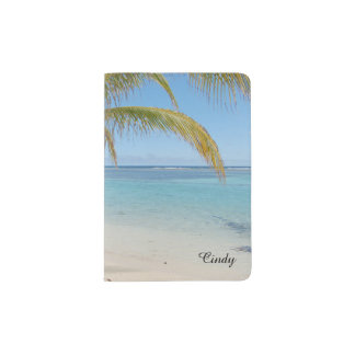 Tropical Belize Beach Caribbean Sea Seascape Passport Holder