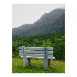 Tropical Bench Poster