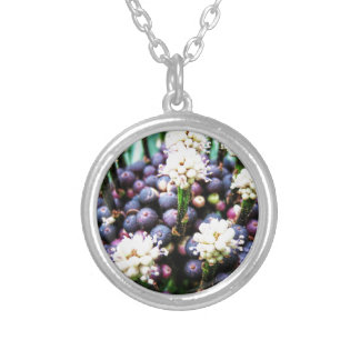 Tropical berries 3 silver plated necklace