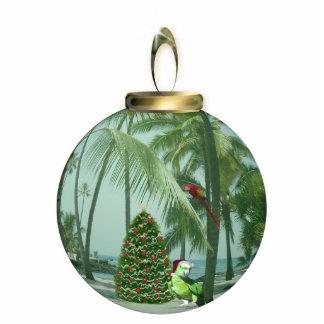 Tropical Bird Christmas Ornament Photo Sculpture Ornament