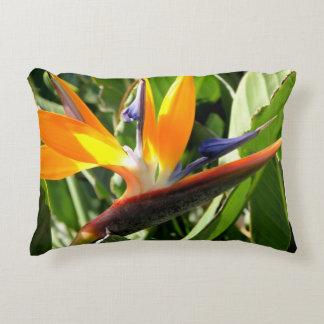 Tropical Bird of Paradise Decorative Pillow