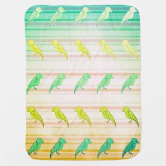 Tropical Birdies Baby Blanket