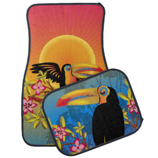 Tropical Birds Car Mat