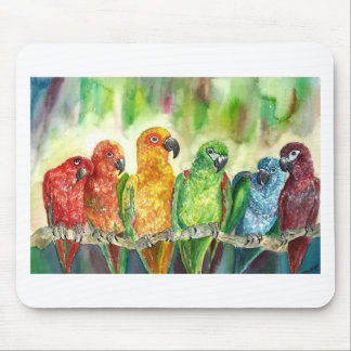 Tropical Birds Mouse Pad
