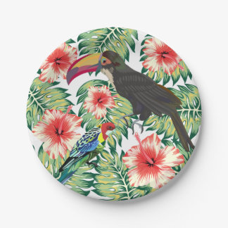 Tropical Birds of Paradise Design Series 1 Paper Plate