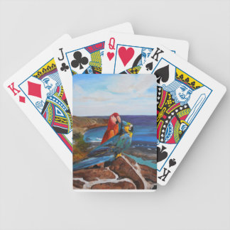 Tropical Birds Overlooking the Bay Bicycle Playing Cards