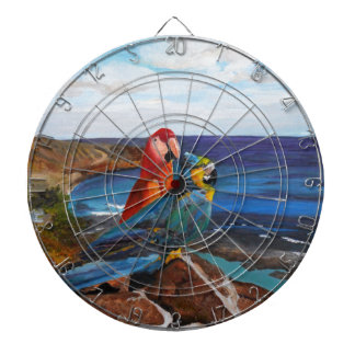 Tropical Birds Overlooking the Bay Dartboard