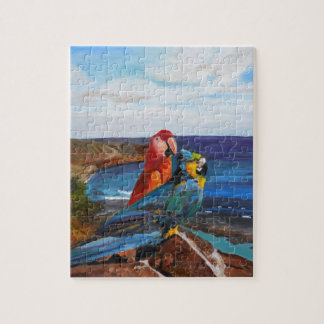 Tropical Birds Overlooking the Bay Jigsaw Puzzle