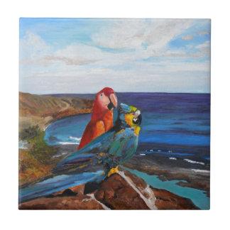 Tropical Birds Overlooking the Bay Tile