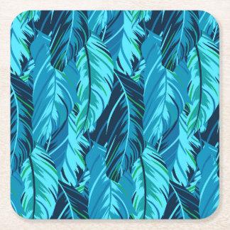 Tropical Birds Square Paper Coaster