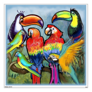 Tropical Birds Wall Decal