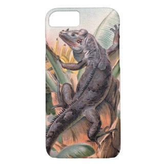 Tropical Black Iguana, Vintage Wild Reptile Animal iPhone 7 Case