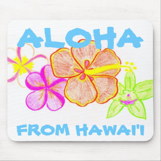 Tropical Blend Flowers Mouse Pad