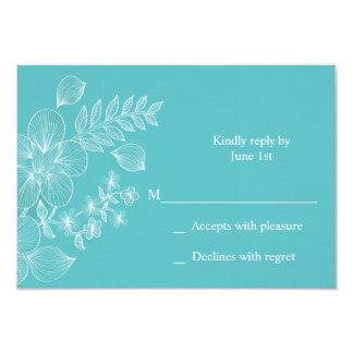 "Tropical Bliss Wedding Response Card 3.5"" X 5"" Invitation Card"