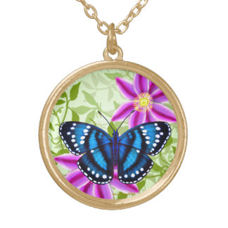 Tropical Blue Butterfly Pendant