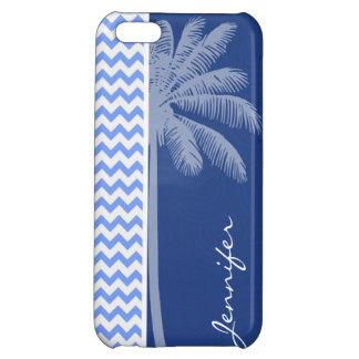 Tropical Blue Chevron Cover For iPhone 5C