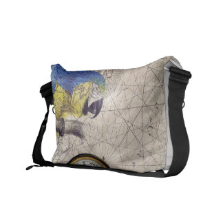 Tropical Blue Collage Messenger Bags