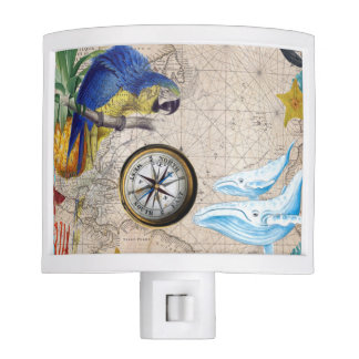 Tropical Blue Collage Night Lights