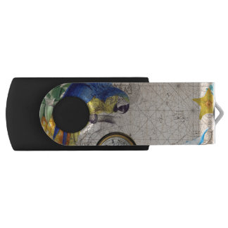 Tropical Blue Collage USB Flash Drive