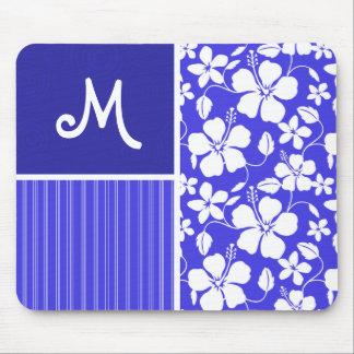 Tropical Blue Hibiscus Flower; Floral Mousepad