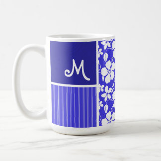 Tropical Blue Hibiscus Flower; Floral Mugs