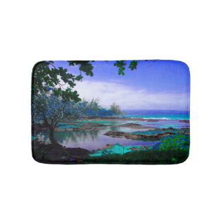 Tropical Blue Lagoon Isle Bath Mat