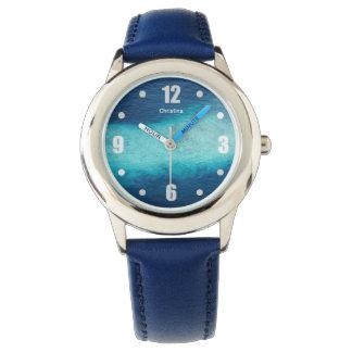 Tropical Blue Ocean White Sand Maldives Custom Watch