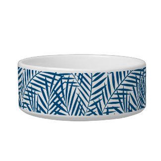 Tropical blue palm leaf bowl
