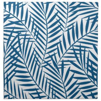 Tropical blue palm leaf napkin