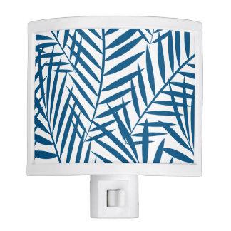 Tropical blue palm leaf night lights