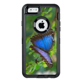 Tropical Blue Purple Butterfly OtterBox Defender iPhone Case