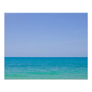 Tropical blue sea and sky. poster