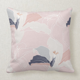 Tropical Blush Large Floral Cushion