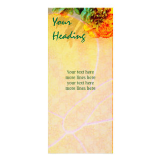 Tropical Borders rack card template