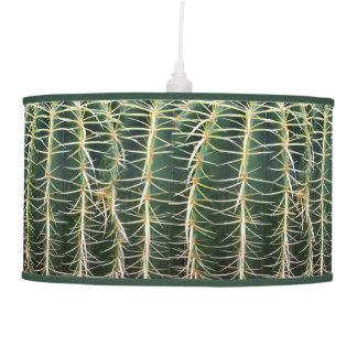 Tropical Botanical Cactus Photo Pendant Lamp