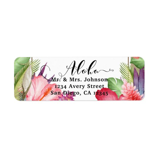 Tropical Botanical Floral Hawaiian Flowers Wedding
