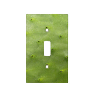 Tropical Botanical Green Cactus Photo Light Switch Cover