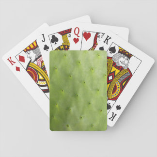 Tropical Botanical Green Cactus Photo Playing Cards