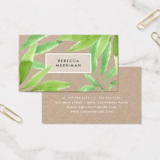 Tropical Botanical | Kraft Business Card