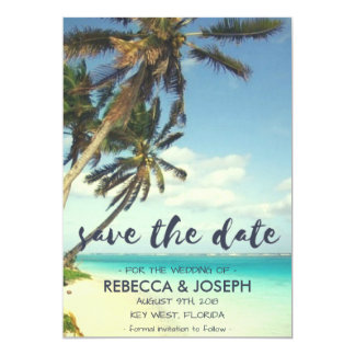 Tropical Breeze Beach Wedding Save the Dates Card