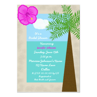 Tropical Bridal Shower Invitation -- Tropical Days