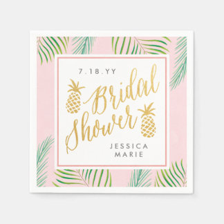 Tropical Bridal Shower Personalized Napkins Disposable Napkins