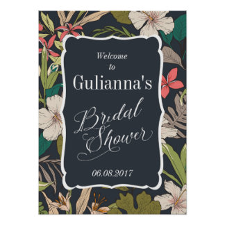 Tropical Bridal Shower Welcome Sign Poster