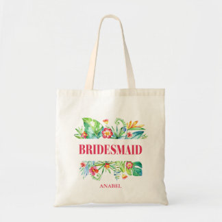 Tropical | Bridesmaid Destination Wedding Tote Bag