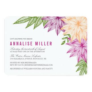 Tropical Brights Bridal Shower Card