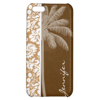 Tropical Brown Damask Pattern iPhone 5C Cases
