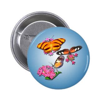 Tropical Butterflies Buttons