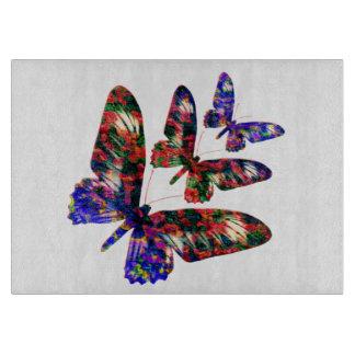 Tropical butterflies  decorative chopping board cutting board